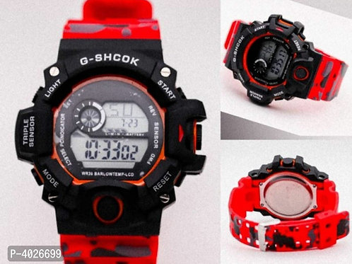 Red camouflage Digital Watches For Men