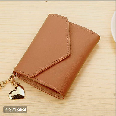 Leather Brown Women Wallets