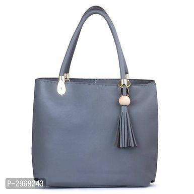 Dark Grey PU Hand-held Bag