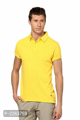 Yellow Polo T Shirt