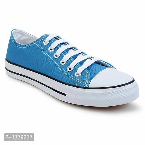 Printed Lace Up blue Canvas Ultra Light Sneakers