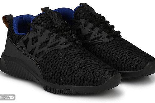 Stylish Black Printed Running Shoes