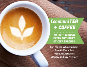 Communitea and coffee flyer