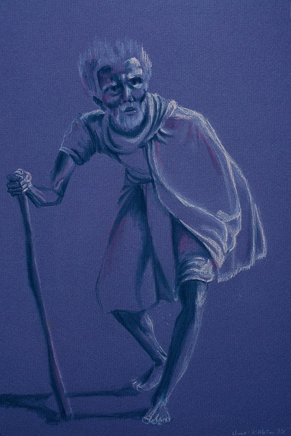 Elder, pastel drawing, Yvonne Littleton