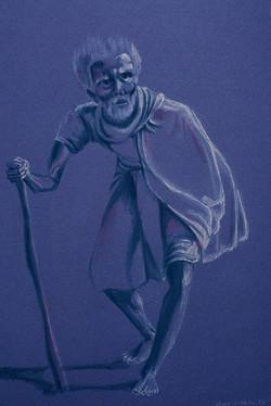 Elder, pastel drawing, Yvonne Littleton