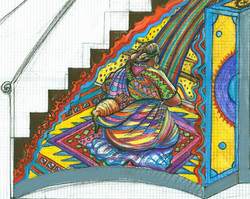 Sketch for Guatemalan Weaver