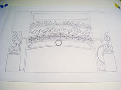Sketch for Doorway, Black and White