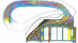 Sketch for Interior Lobby, Stairwell