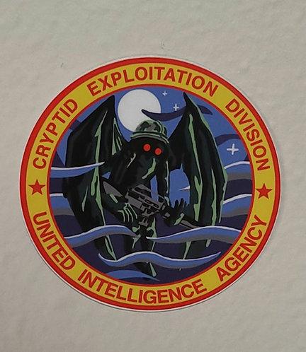 Mothman Cryptid Exploitation (sticker)