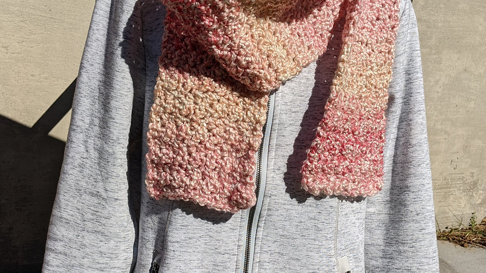 Handmade Scarf - Homespun Pink