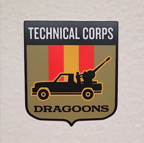 Technical Corps Dragoons (sticker)