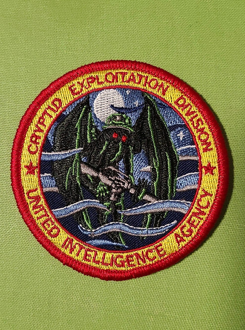 Mothman Cryptid Exploitation Div. (velcro patch)