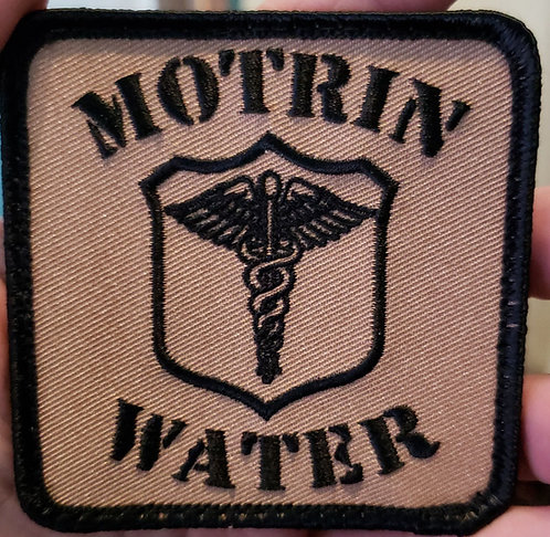 Motrin and water (corpsman) velcro back