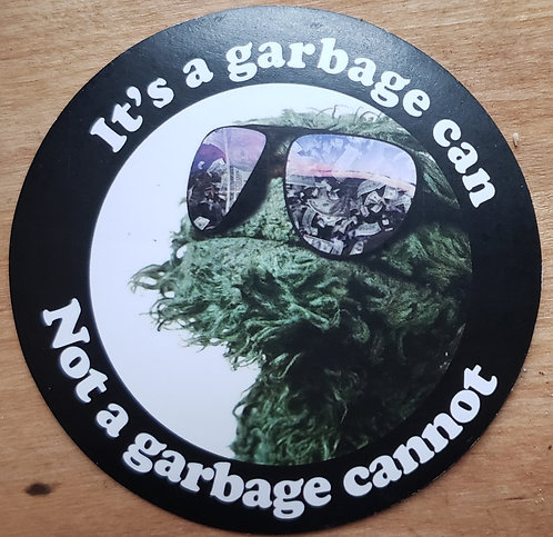 It's a garbage can (sticker)