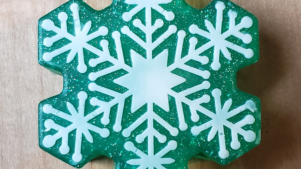 Green Snowflake soap