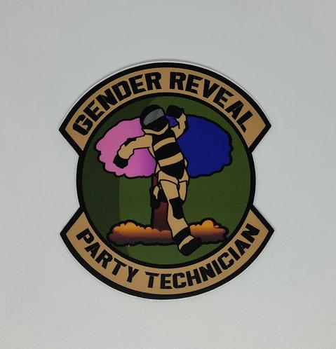 Gender Reveal Technician (sticker)