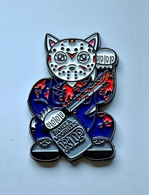 Lucky Neko Jason (enamel pin)