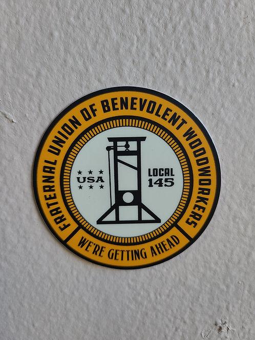 Benevolent woodworkers sticker