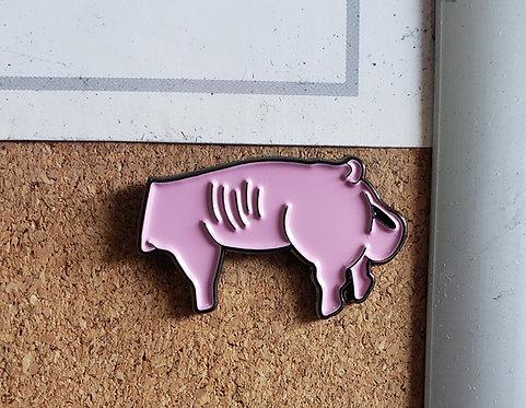 Pig Poop Pin (enamel pin)