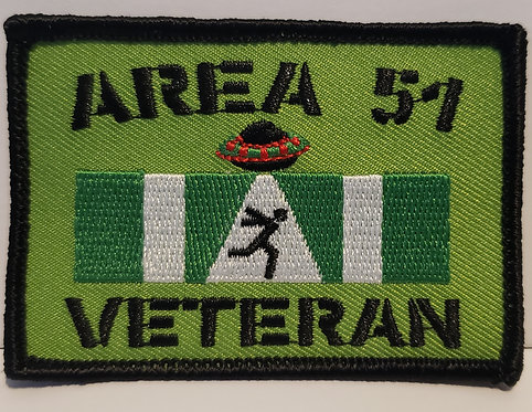 Area 51 veteran patch (iron on backing)