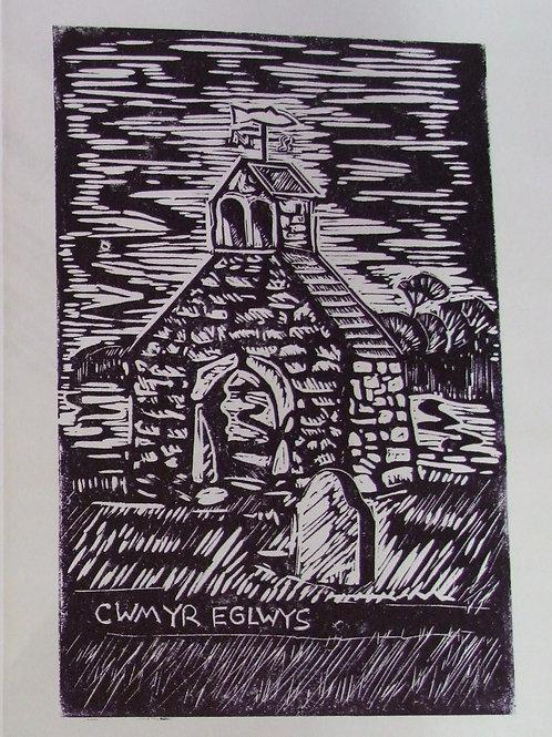 Cwm-yr-Eglwys Lino Print