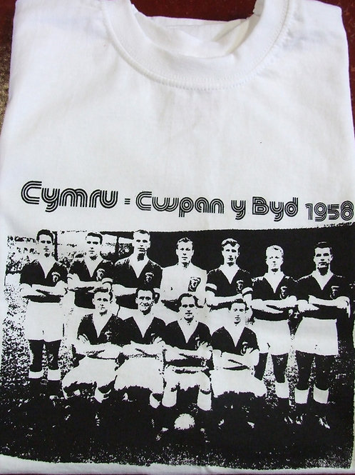 Crys Cwpan y Byd 1958 T Shirt
