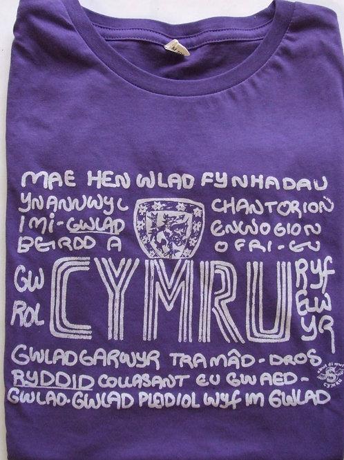 Cymru Hen Wlad Fy Nhadau Merched/Girls Hen Wlad T