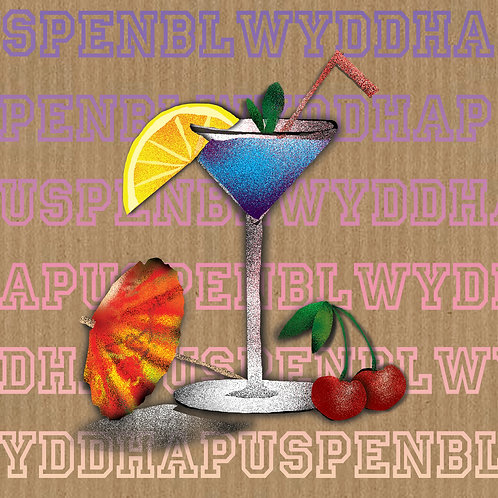 Happy Birthday Card / Cocktail Birthday Card