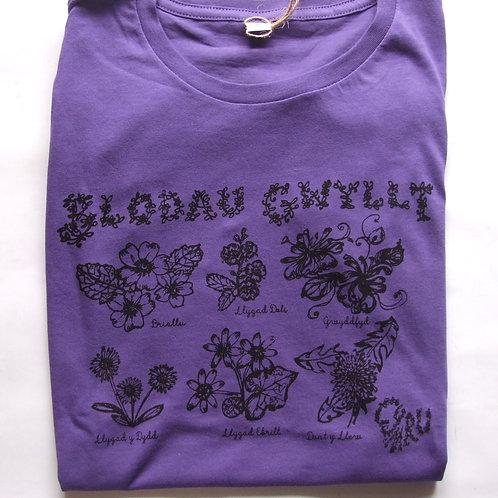 Crys-T Blodau Gwyllt/Wild Flowers T (adults)