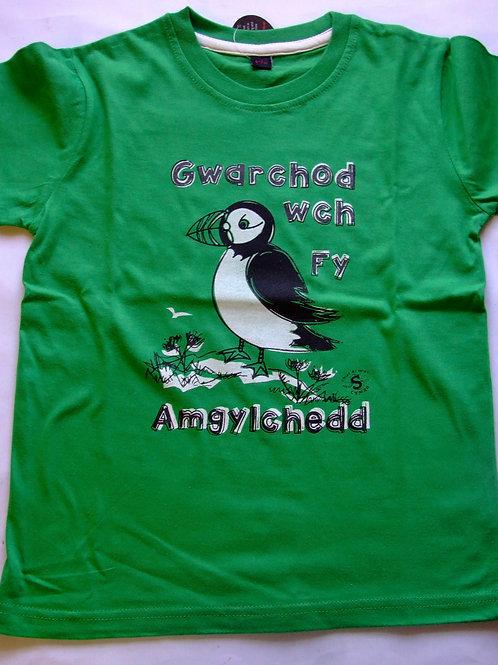 T Gwarchodwch fy Amgylchedd/Puffin T