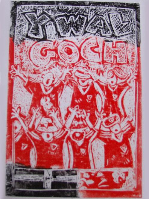 Print Lino Y Wal Goch Linoprint