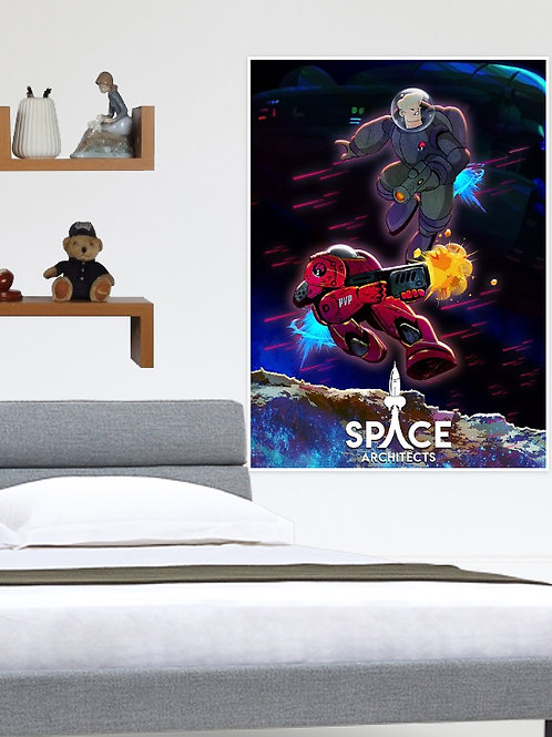 Space Architects Titans Poster