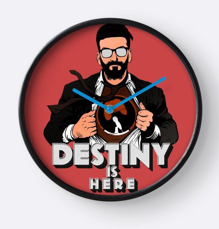 Destiny Is Here Clock