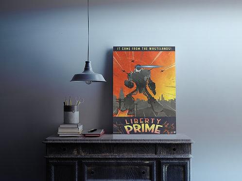 Liberty Prime (retro) Art Print