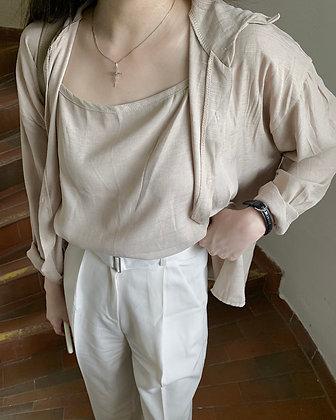 soft cami + shirt set