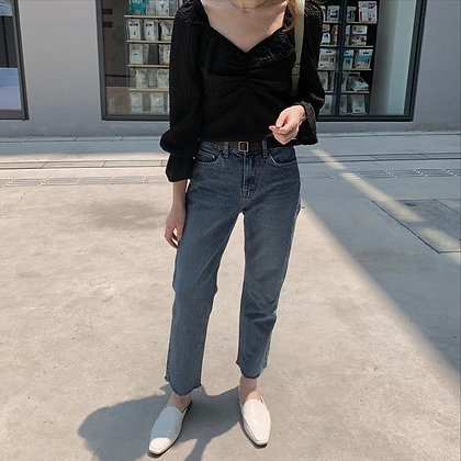 easy fit high waisted jeans