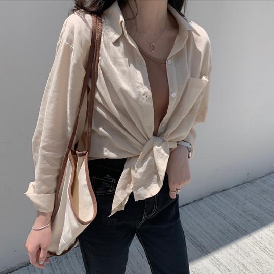 sheer linen shirt
