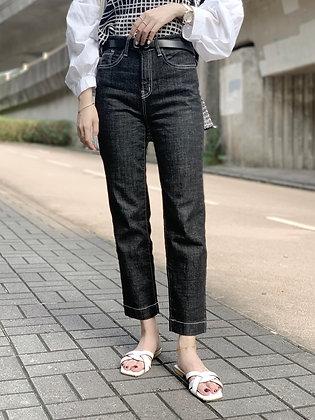 TQ708 top stitching slim cut jeans