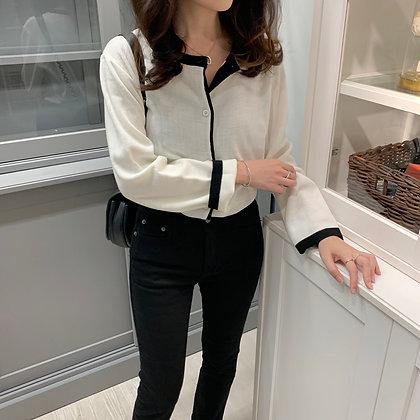 contrasting trim cardigan
