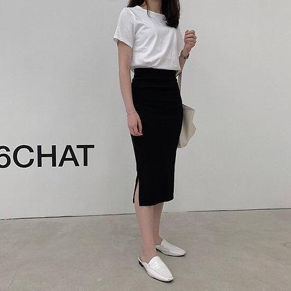 elegant fitted midi skirt