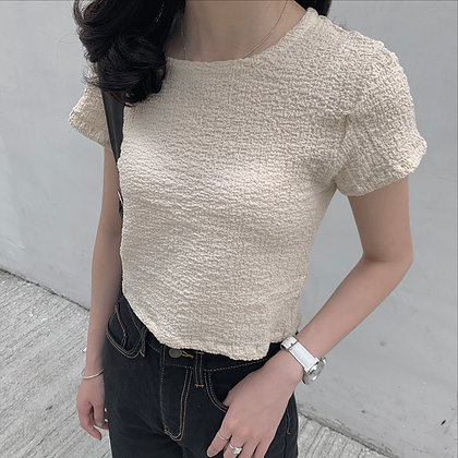 cropped wrinkly tee