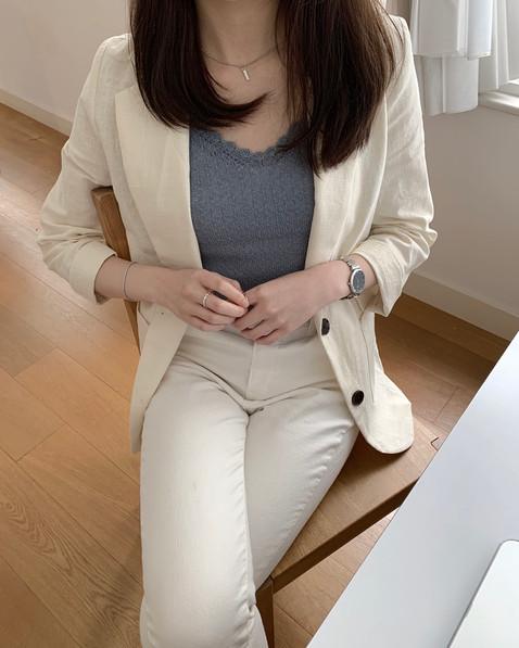 basic linen blazer