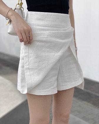 linen-cotton blend skirt pants