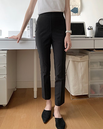 high waisted slim fit pants
