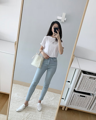 Waistband Skinny Jeans