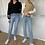 Thumbnail: DM908 high waisted slim cut jeans