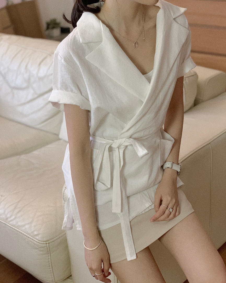 short sleeves blazer dress
