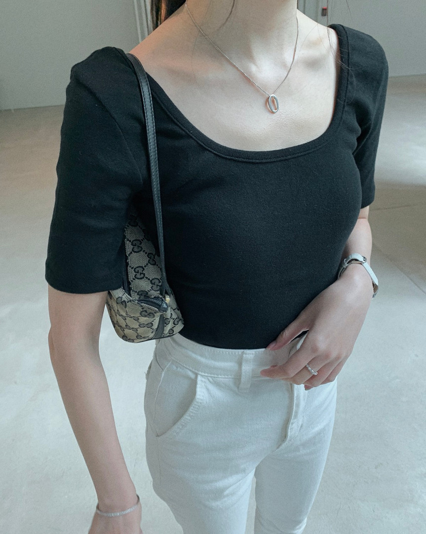 daily square neck top