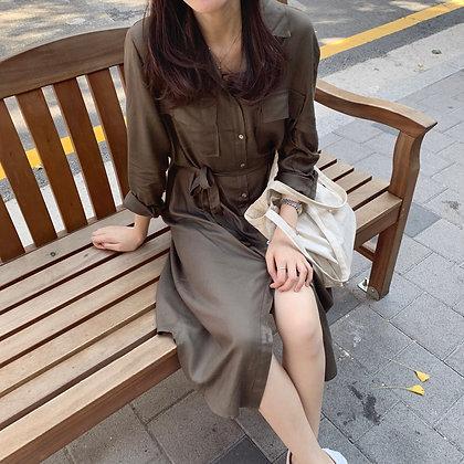 utility midi dress/jacket