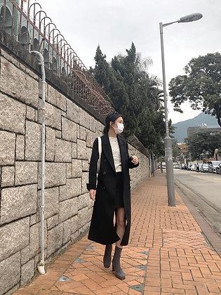 /PREMIUM/ handmade coat - black